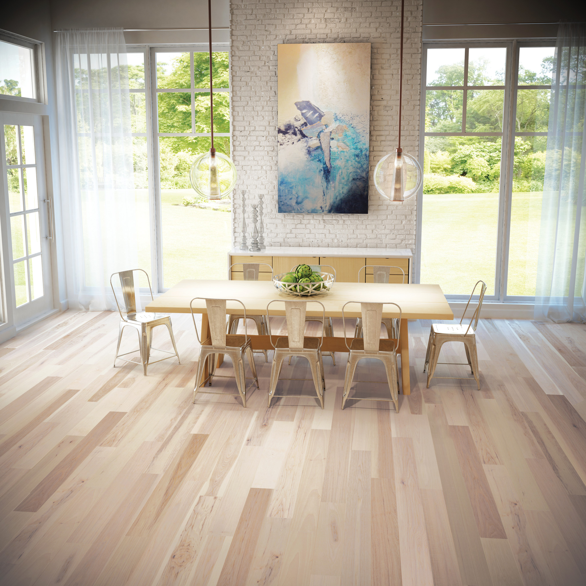 Dining Room Flooring: Tampa Hardwood Floors In Distressed & Smooth, Wide Plank